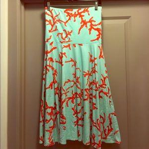 J. Mclaughlin strapless coral dress